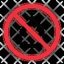 No Shit Prohibition Forbidden Icon