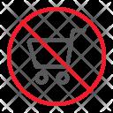 No shopping Icon