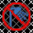 Bath Shower Ban Icon