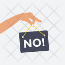 No Holding Sign Icon