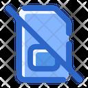 No Sim Card Mobile Card Icon