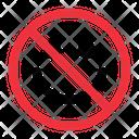 No Smile Prohibition Forbidden Icon