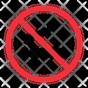 No Smoke Prohibition Forbidden Icon