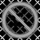 No Smoke Warning Prohibition Icon