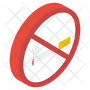 No Smoking Smoking Prohibited Quit Smoking Icon