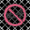 No Smoking Forbidden Prohibition Icon