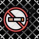 Smoking Cigarette Forbidden Icon