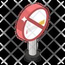 No Smoking Smoking Prohibited Quit Smoking Icon