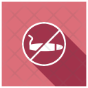 No Smoking Smoking Block Icon