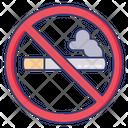 No Smoking Prohibition Cigarette Icon