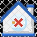 No Smoking Home House Icon