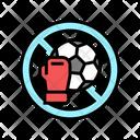 No Sports No Play Contraindicated Icon