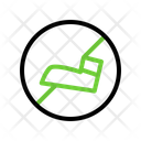 No Stepping On Grass Arrow Sign Icon