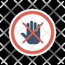 Stop Block Board Icon