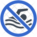 Swim Swimming Restriction Icon