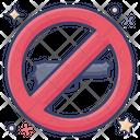 No To Guns Weapon Prohibited Gun Blocked Icon