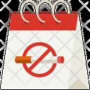 No Tobacco Day Calendar Date Icon