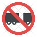 No Trailers Sign Icon