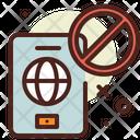No Travel Avoid Traveling Travel Icon