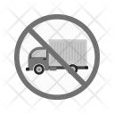 No truck sign Icon