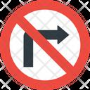 No Turn Right No Right Turn Road Icon