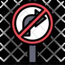 No Turn Right Traffic Sign Circulation Icon