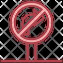 No Turn Right Icon