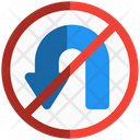 No Turning Icon