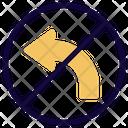 No Turning Left Icon