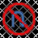 Sign Road Uturn Icon