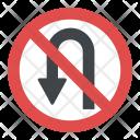 No U-turn Icon