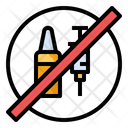 Vaccine No Syringe Icon