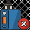 No Vape Vape Vapor Icon