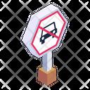 No Parking No Vehicle Vehicle Waring Icon
