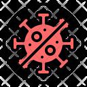 No Virus Virus Bacteria Icon