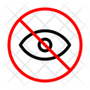 Banned Invisible Hide Icon