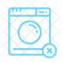 No Washing Machine Icon