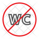 No Wc Restroom Icon
