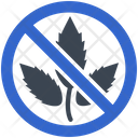 Weed Restriction Prohibition Icon