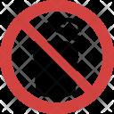 Open Dustbin Ban Icon