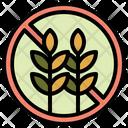 No Wheat No Grain Grain Allergy Icon