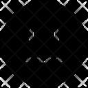 Nodding Emotion Face Icon