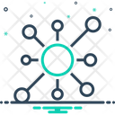 Node Network Link Icon