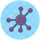 Nodes Connection Network Icon