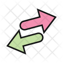 Nofollow Left And Right Arrows Hand Drawn Arrow Icon