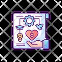 Crowdfunding Color Icon