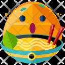 Noodles Emoji Face Icon