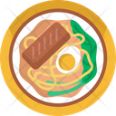 Asian Food Noodles Eggs Icon