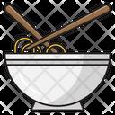 Noodles Bowl Chopstick Icon