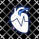 Heart Rhythm Wave Icon
